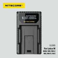 Nitecore ULM9 Camera USB Battery Charger for Leica 14464 M9 / M8 / M-E