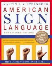 AMERICAN SIGN LANGUAGE By Martin L. A. Sternberg - Hardcover Excellent Condition