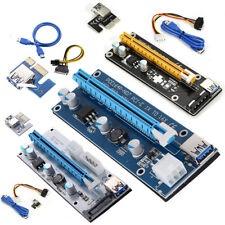 4/6PIN Pcie PCI-E Express 1x To 16x Extender Riser Card Adapter Power Cable BTC