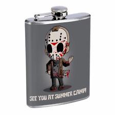 Killer Camp Em1 Flask 8oz Stainless Steel Hip Drinking Whiskey