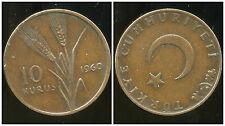TURQUIE  10  kurus  1960  ( bis )