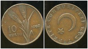 TURQUIE  10  kurus  1960