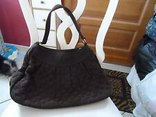 Vera Bradley large Chocolate brown shoulder bag