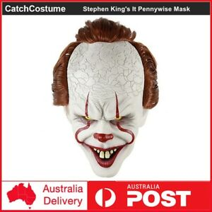 Stephen King's It Chapter Two Pennywise Mask Scary Joker Mask Halloween Cosplay