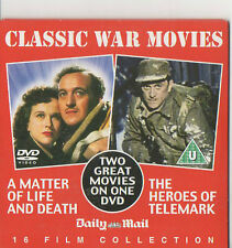 2 Classic War Movies A MATTER OF LIFE AND DEATH+The HEROES OF TELEMARK DVD Films