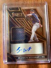 A42,235 -  2020 Select Signature Materials #1 Brandon Woodruff Auto Jersey/99