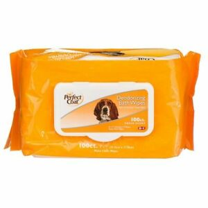 LM Perfect Coat Deodorizing Bath Wipes for Dogs 100 Pack