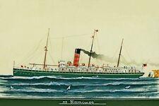 WARRIMOO of the Union SS Co of New Zealand Art Modern Digital Postcard