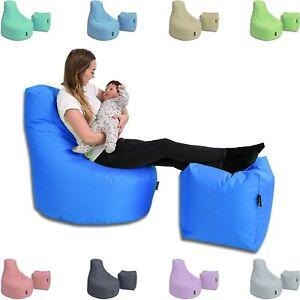 Sitzsack Hocker Set Bean Bags Outdoor Indoor Riesen Sitzsäcke 32 Farben wählbar