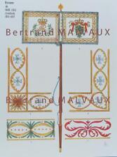 LE PLUMET PLANCHE D10 : DRAPEAUX ÉTENDARDS ROYAUME DE SAXE (III) 1811-1813