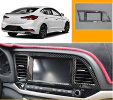 Carbon fiber central console Navigation panel trim For 2017-2018 Hyundai Elantra