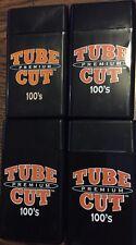 4 Gambler Tube Cut 100's Size Cigarette Case Hard Flip Top Black Heavy Duty Box