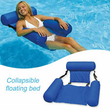 Adults Water Hammock Pool Inflatable Floating Chair Summer Lounge Chair Lazy Bed