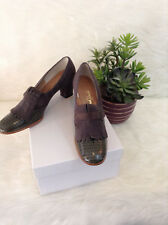 Vintage Chunky Heels by Hill and Dale, Sz 7 1/2 Aa
