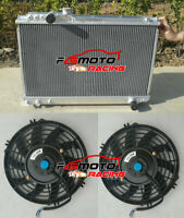 3 Row Aluminum Radiator + 2*Fans for Toyota Supra Soarer MK3 7M-GTE 1986-1992 MT