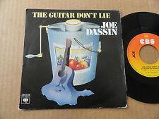 """DISQUE 45T  DE JOE DASSIN  """" THE GUITAR DON'T LIE """""""