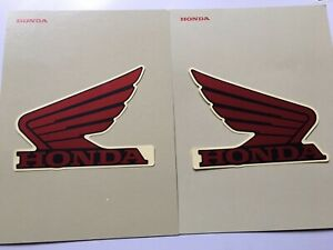 Bike Honda Wings 2x100mm Fuel Tank Decal Red/Black Part No 86201-MJE-G00ZA