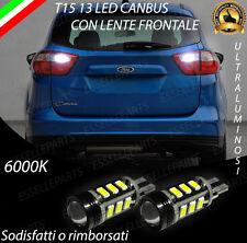 LAMPADE RETROMARCIA 13 LED T15 W16W CANBUS PER FORD C-MAX CMAX II 6000K NO ERROR