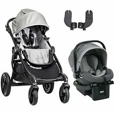 Baby Jogger City Select Travel System in Silverwith Stroller & City Go Car Seat!