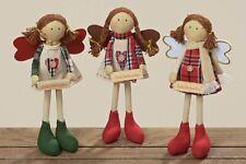 Deko-Figur Puppe Schutzengel - Evy - Stoffpuppe Weihnachtsdeko H 25cm, 3er Set