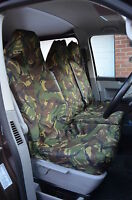 FORD TRANSIT (00-06) MK6 VAN SEAT COVERS CAMOUFLAGE CAMO GREEN HEAVY DUTY 2-1