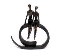 Skulptur Paar Liebespaar Dekofigur Aus Kunststein Bronze Polyresin Pärchen