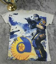 RARE Planetside 2 Gamer T-Shirt Shooter PS4 Xbox Intel Daybreak Sz Small Tee