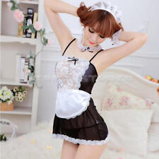 Sexy Halloween Costume French Maid Princess Cosplay Fancy Dress Lingerie U HLC