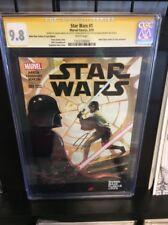 STAR WARS  #1 REBEL BASE VARIANT CGC-SS 9.8 3x SIGNED DAVID PROWSE aka  VADER