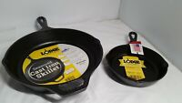 """Set of 2 Lodge Cast Iron Skillet 6.5"""" and 10 1/4"""""""