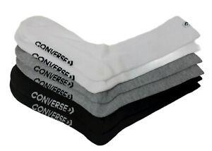 Converse Men's Half Cushion Crew Socks (Star Chevron White/Grey/Black)