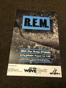 """R.E.M. 1985 Pittsburgh PA Reconstruction Tour Cardstock Concert Poster 12""""x18"""""""