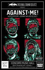Against Me! / White Mystery / Johnny Walker 2016 Chicago Concert Tour Poster