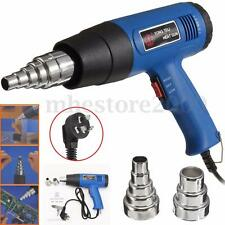 Hot Air Heat Gun Blower 1800W 600°C Paint Drying Striping Tool & 2 Nozzles