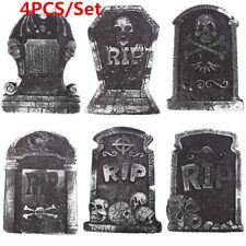 4PCS Halloween Tombstone Props Graveyard Spooky Skeleton Outdoor Decorations UK