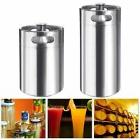 4L 5L Stainless Steel Beer Growler Mini Keg Bottle Home Brewing Screw Cap Barrel