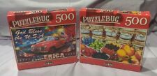 Jigsaw Puzzle 500 pieces America and Jams Lot of 2 New PuzzleBug