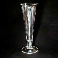 1 (One) TIFFANY CO Lead Crystal Trumpet Vase Made in England-Signed w Paper Tag