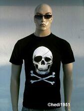 D Skull Head Skull Pirate Rock Star Emo T-Shirt G M