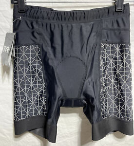 """TYR Women's Large L Black 6"""" Exercise Tri Biking Shorts Pad COMPETITOR New"""