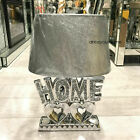 Crushed Diamond Silver Double Heart Home Sparkle Ornament Bling Home Decor