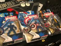 "MARVEL UNIVERSE 3 lot CONSTRICTOR Captain America Iron man 3.75"" 2008 Hasbro"