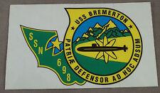 "US Navy Decal - Sticker - USS Bremerton SSN-698 - 5"" X 3"""