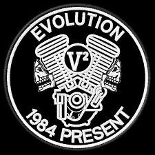 Evolution V2 Big Twin Patch 1984 Present Panhead Shovelhead Softail Biker Kutte