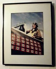 Gabby Gabreski Signed Photograph, Matted and Frames, with COA, World War II