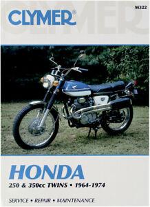 CLYMER Repair Manual, Honda 250-350cc 1964-1974, CB250 CB350 CL250 CL350 SL350