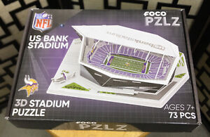 Minnesota Vikings US Bank Stadium NFL Football FOCO PZLZ 3D Puzzle Super Bowl 52