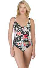 fc0b646d4e Penbrooke Pattern Sense Shirred One Piece Swimsuit Size 10