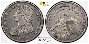 Silver Half Dollar Capped Bust USA 1834 KM# 37 O-114 Rarity-1. PCGS XF-45