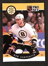 1990-91 PRO SET HOCKEY BOB CARPENTER CARD #4 BOSTON BRUINS NMT/MT-MINT
